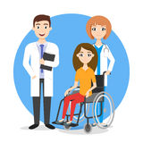 Vector illustration of disabled person in the wheelchair Royalty Free Stock Photos