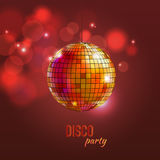 Vector illustration of disco ball Stock Image