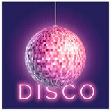 Disco ball square Royalty Free Stock Photo
