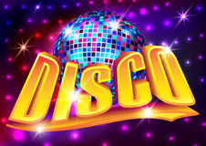 Vector illustration - Disco party poster Stock Image