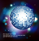 Vector illustration with a discoball Royalty Free Stock Images