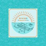 Vector illustration diving. Stock Photos