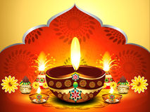 Vector illustration of diwali background new Stock Photography