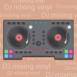 Vector illustration DJ club music console. Mixing desk production sound desk console sliders, buttons, knobs and switches vector illustration