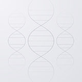 Vector illustration of a DNA molecule Royalty Free Stock Images