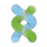 Vector illustration of dna structure in 3d. Royalty Free Stock Photo