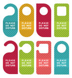 Do not disturb door hanger set Royalty Free Stock Photo