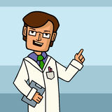 Vector illustration of Doctor man Stock Photography