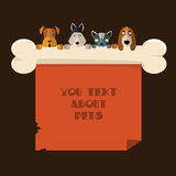 Vector illustration of dogs. Royalty Free Stock Photo