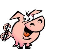 Vector illustration of an Dollar Pig Stock Images