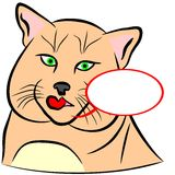 Domestic Cat. An a vector illustration of Domestic Cat Stock Illustration