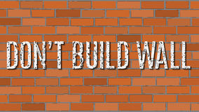 Vector illustration. Don`t build wall. Stock Photography