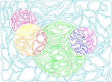Vector illustration of doodle rounds. Hand-drawn pattern. Stock Image