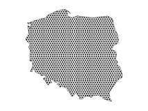 Dotted Pattern Map of Poland. Vector illustration of the Dotted Pattern Map of Poland royalty free illustration