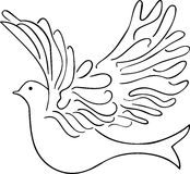 Vector illustration of the dove Stock Photos