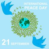 Vector illustration of dove world peace day EPS 10 vector illustration