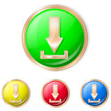 Vector illustration of download button. Royalty Free Stock Photos