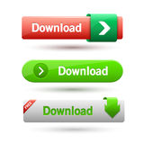 Vector illustration of download buttons Stock Images