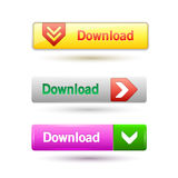Vector illustration of download buttons Royalty Free Stock Photos