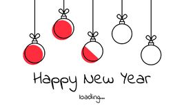 Vector illustration. download. New year 2019. Christmas red ball Stock Image