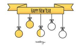 Vector illustration. download. New year 2019. Christmas yellow b Stock Photos