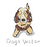 Vector illustration of drawing outline dogs Stock Photos