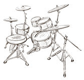 Vector illustration of drum kit Stock Photo