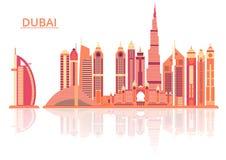 Vector illustration of Dubai city Royalty Free Stock Photo