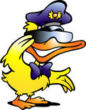 Vector illustration of an Duck in uniform Royalty Free Stock Images