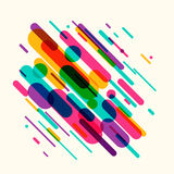 Vector illustration of dynamic composition made of colored rounded shapes lines Royalty Free Stock Image