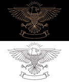 Vector illustration of eagle in line style Royalty Free Stock Images