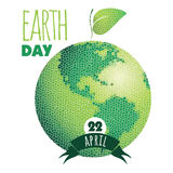 Vector illustration of Earth Day. Design element Stock Image