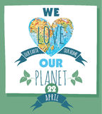 Vector illustration of Earth Day. Design element Royalty Free Stock Images