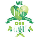 Vector illustration of Earth Day Stock Image