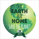 Vector illustration of Earth Day. Design element royalty free illustration