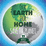 Vector illustration of Earth Day. Design element Royalty Free Stock Photography