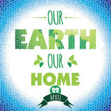 Vector illustration of Earth Day. Design element stock illustration