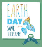Vector illustration of Earth Day Royalty Free Stock Photography