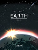 Vector illustration with earth planet from space Royalty Free Stock Image