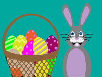 Vector illustration. Easter bunny. Royalty Free Stock Image