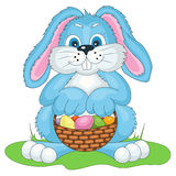 Vector illustration Easter bunny with bast basket royalty free illustration