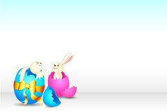 Easter Bunny from Broken Egg Royalty Free Stock Photo