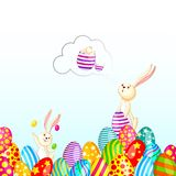 Easter Bunny with Colorful Egg Royalty Free Stock Photography