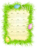 Vector illustration of Easter calendar 2011 Royalty Free Stock Photos