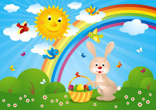 Vector illustration of a easter card vector illustration