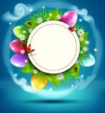 Vector illustration. Easter sale banner, advertising round card Royalty Free Stock Photos