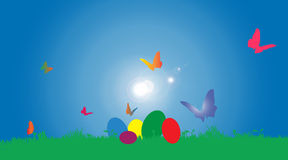 Vector illustration with Easter theme. Royalty Free Stock Photography