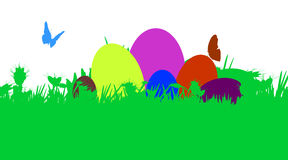 Vector illustration with Easter theme. Stock Photo