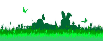 Vector illustration with Easter theme. Royalty Free Stock Photo