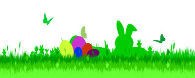 Vector illustration with Easter theme. Royalty Free Stock Images